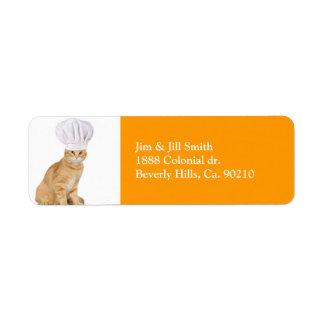 Señor Cat Chef To You Etiqueta De Remitente