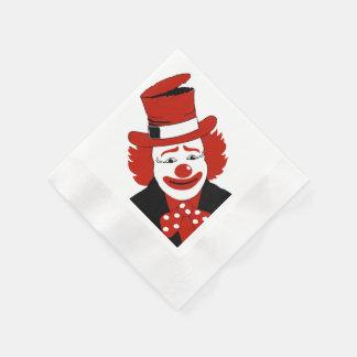Señor Cool Clown With Dotted Bowtie Servilletas De Papel