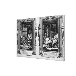 Señor Cromwell presenta la biblia al Enrique VIII Impresión En Lienzo