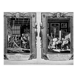 Señor Cromwell presenta la biblia al Enrique VIII Tarjetas Postales