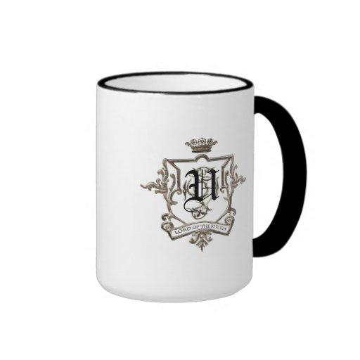Señor de la taza del monograma de la cocina