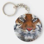 Señor de las selvas indias, el tigre de Bengala Llavero Redondo Tipo Pin