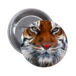 Señor de las selvas indias, el tigre de Bengala re Pin Redondo 5 Cm
