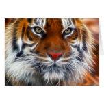Señor de las selvas indias, el tigre de Bengala re Felicitacion