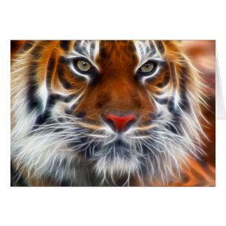 Señor de las selvas indias, el tigre de Bengala Tarjeta De Felicitación