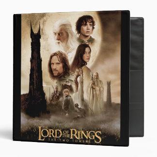 """Señor de los anillos: El cartel de película de dos Carpeta 1 1/2"""""""