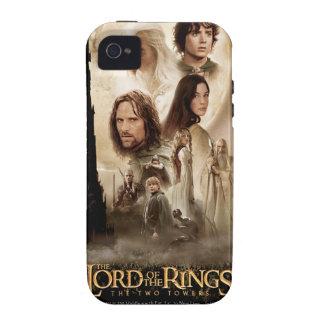 Señor de los anillos El cartel de película de dos iPhone 4 Funda