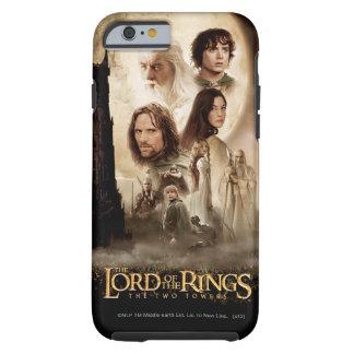 Señor de los anillos: El cartel de película de dos Funda De iPhone 6 Tough