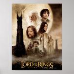Señor de los anillos: El cartel de película de dos Póster