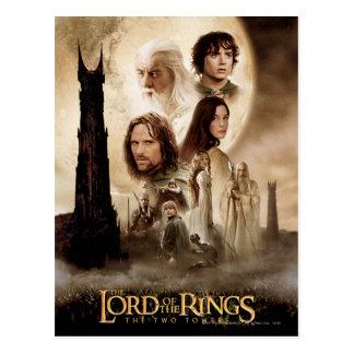 Señor de los anillos: El cartel de película de dos Postal