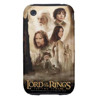 Señor de los anillos: El cartel de película de dos Tough iPhone 3 Cobertura