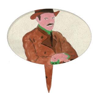 Señor del alemán de Oktoberfest Figura De Tarta