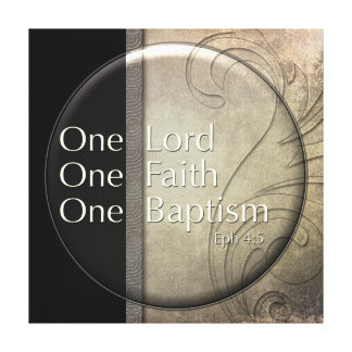 Señor del espejo, fe, bautismo lona estirada galerias