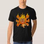¡Señor del fuego!! camiseta (del león lindo del Playeras