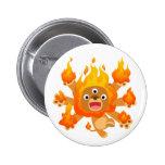 ¡Señor del fuego!! insignia del botón (del león li Pin Redondo De 2 Pulgadas