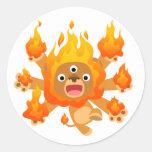 ¡Señor del fuego!! pegatina (del león lindo del di