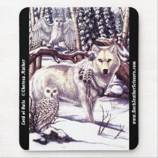 Señor del lobo del invierno de Mousepad de los búh Tapete De Ratones