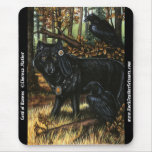 Señor del lobo del otoño de Mousepad de los cuervo Alfombrilla De Raton