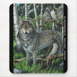 Señor del lobo Mousepad de los Falcons