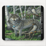 Señor del lobo Mousepad de los Falcons Alfombrilla De Ratón