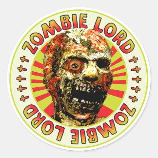 Señor del zombi pegatinas redondas