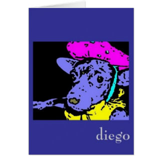 senor diego in cognito notecard greeting card