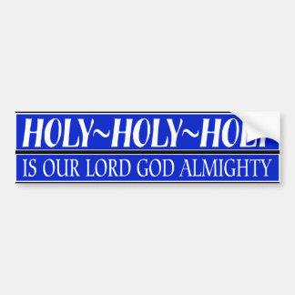 Señor Dios Todopoderoso Etiqueta De Parachoque