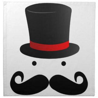 Señor divertido retro del hombre del bigote del bi servilleta de papel