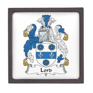 Señor Family Crest Cajas De Recuerdo De Calidad