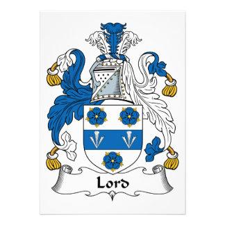Señor Family Crest Invitación