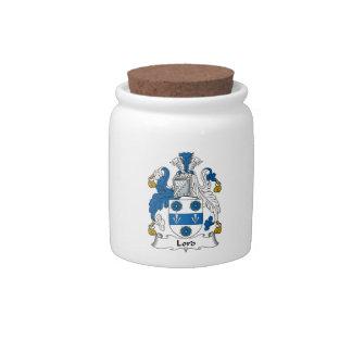 Señor Family Crest Jarras Para Caramelos