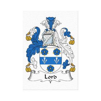 Señor Family Crest Lienzo Envuelto Para Galerias