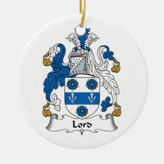 Señor Family Crest Ornamento Para Arbol De Navidad
