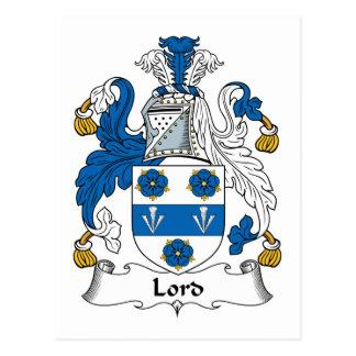 Señor Family Crest Postales