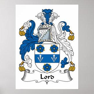 Señor Family Crest Póster