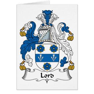 Señor Family Crest Tarjeta De Felicitación