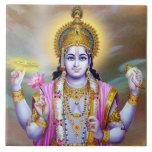 Señor floral hermoso Vishnu del vintage Azulejo Cerámica