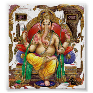 Señor Ganesh gran dios hindú para la felicidad Impresiones