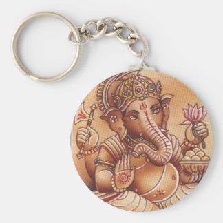 Señor Ganesh Keychain Llavero Redondo Tipo Pin