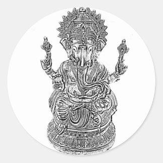 Señor Ganesh Pegatinas Redondas