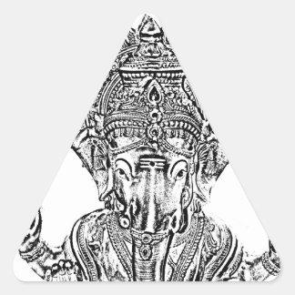 Señor Ganesh Colcomanias Trianguladas