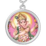 Señor Ganesha del baile Colgante Redondo