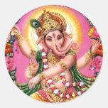 Señor Ganesha del baile Etiqueta
