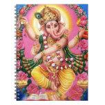 Señor Ganesha del baile Libro De Apuntes Con Espiral