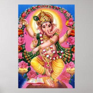 Señor Ganesha del baile Póster