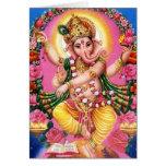 Señor Ganesha del baile Tarjeta De Felicitación