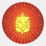 Señor Ganesha el chispear Etiqueta Redonda