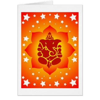 Señor Ganesha On Lotus Design Tarjeta De Felicitación