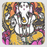 Señor Ganesha Pegatina Cuadrada