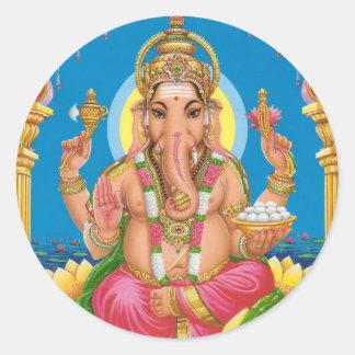 Señor Ganesha Pegatina Redonda